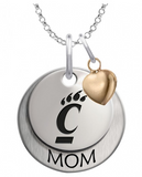 Cincinnati Bearcats MOM Necklace with Heart Accent - DealsAmazingDeals.com