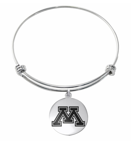 Minnesota Golden Gophers Stainless Steel Bangle Bracelet - DealsAmazingDeals.com