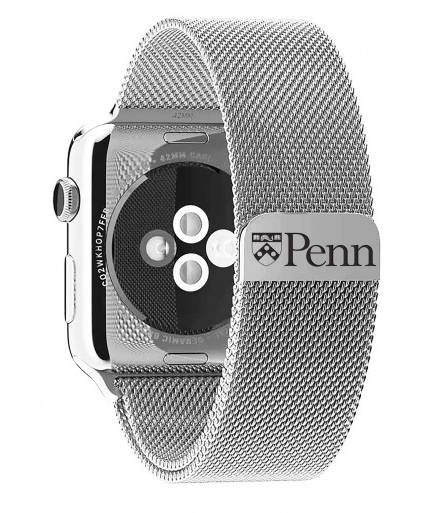 University of Pennsylvania Stainless Steel Replacement Apple Watch Band - DealsAmazingDeals.com