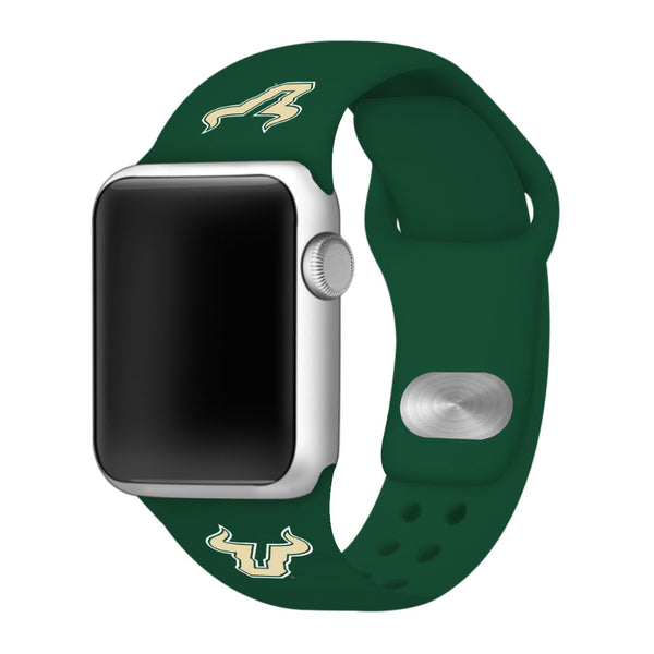 South Florida Bulls Silicone Sport Band for Apple Watch - Green
