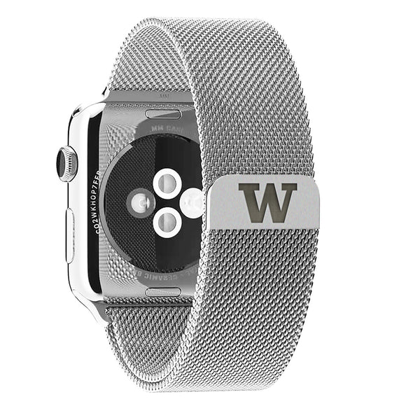 Washington Huskies Stainless Steel Replacement Apple Watch Band - DealsAmazingDeals.com