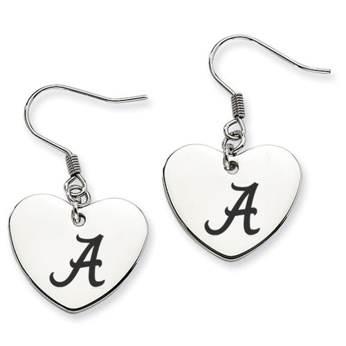 Alabama Crimson Tide Stainless Steel Heart Earrings - DealsAmazingDeals.com