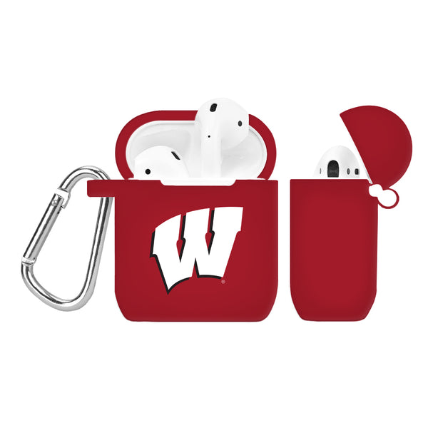 Wisconsin Badgers Silicone Case Cover for Apple AirPod Case - DealsAmazingDeals.com