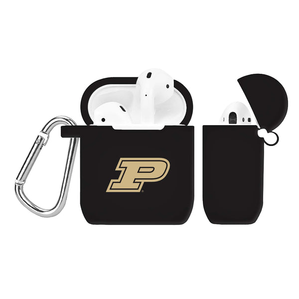 Purdue Boilermakers Silicone Case Cover for Apple AirPod Case - Black - DealsAmazingDeals.com