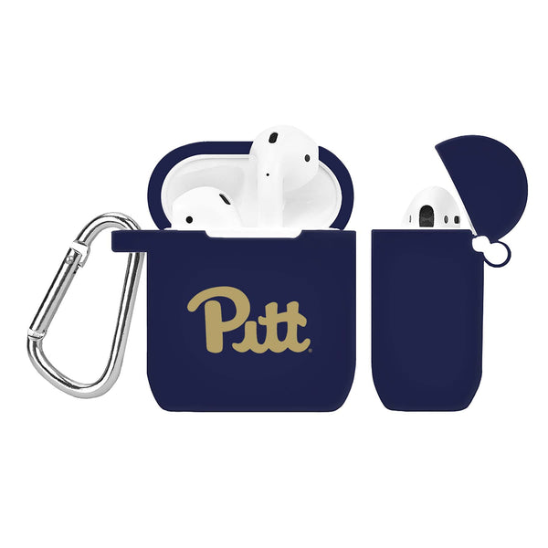 Pittsburgh Panthers Silicone Case Cover for Apple AirPod Case - Navy - DealsAmazingDeals.com