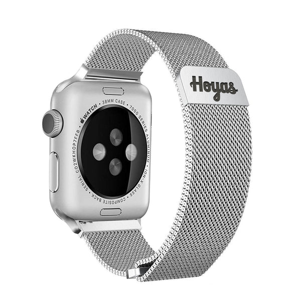 Georgetown Hoyas Stainless Steel Band for Apple Watch - DealsAmazingDeals.com