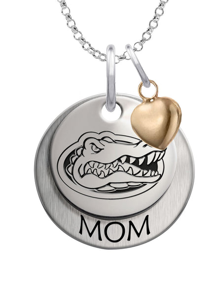 Florida Gators MOM Necklace with Heart Accent - DealsAmazingDeals.com