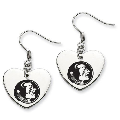 Florida State Stainless Steel Heart Earrings