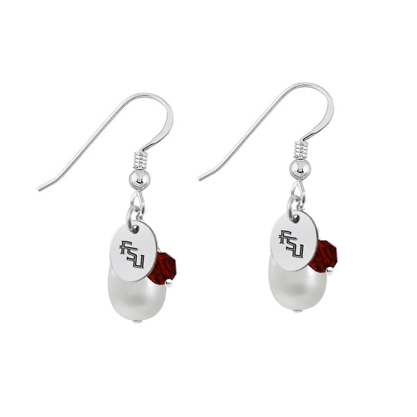 Florida State Seminoles Color and Freshwater Pearl Earrings - DealsAmazingDeals.com