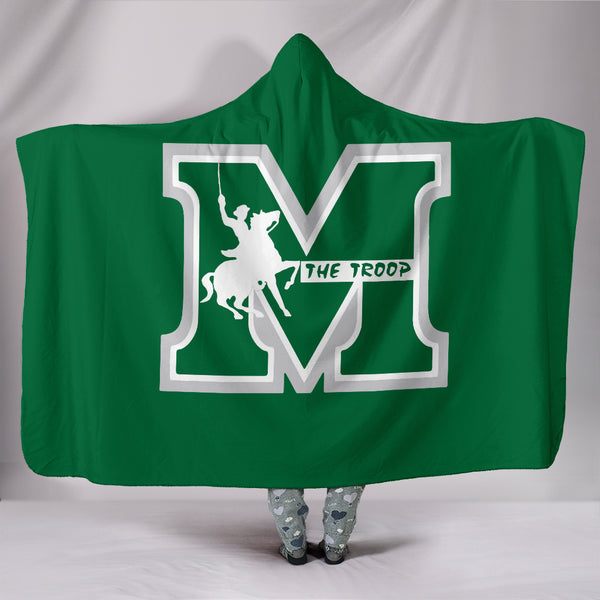 Mooreville Troopers Hooded Blanket
