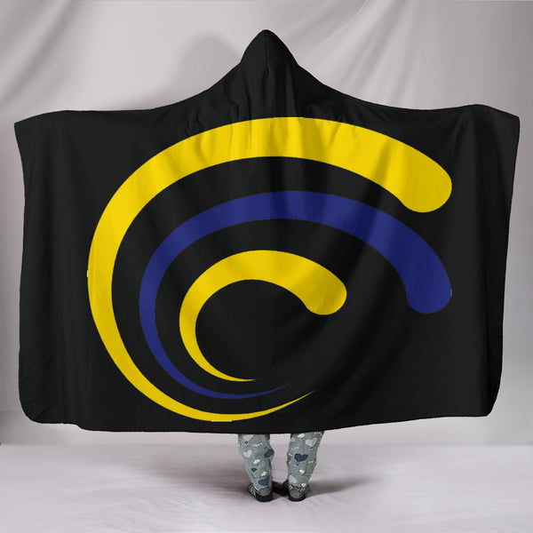Tupelo Golden Wave (black) - Hooded Blanket - DealsAmazingDeals.com