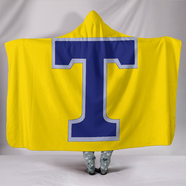Tupelo Golden Wave (yellow) - Hooded Blanket