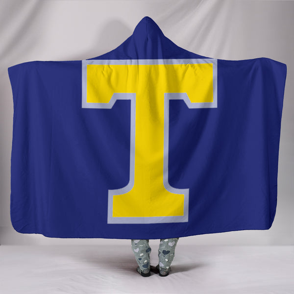 Tupelo Golden Wave (Blue) - Hooded Blanket - DealsAmazingDeals.com