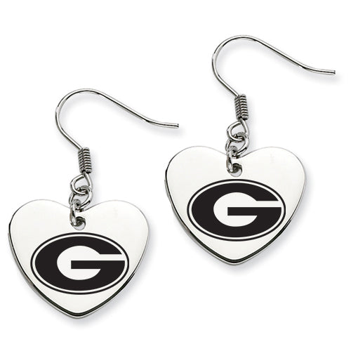 Georgia Stainless Steel Heart Earrings