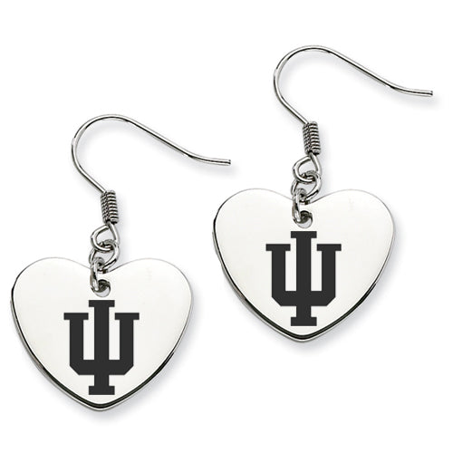 Indiana Stainless Steel Heart Earrings