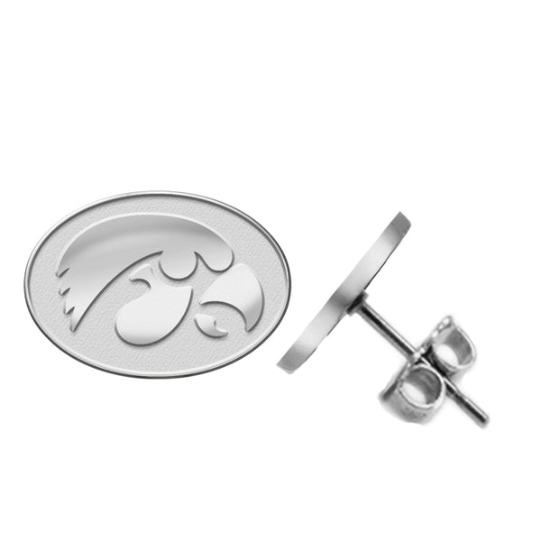 Iowa Hawkeyes Silver Stud Earrings