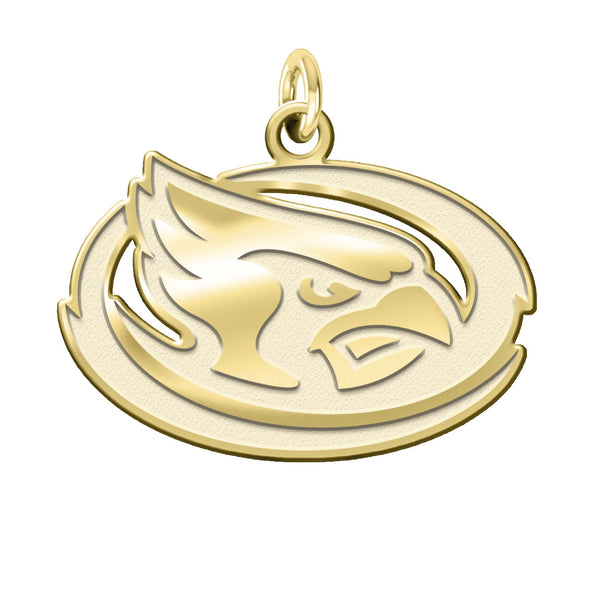 Iowa State Cyclones 14K Yellow Gold Natural Finish Cut Out Logo Charm - DealsAmazingDeals.com