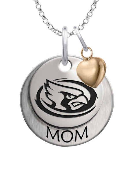 Iowa State Cyclones MOM Necklace with Heart Accent