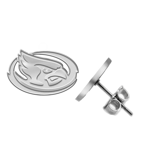 Iowa State Cyclones Silver Stud Earrings
