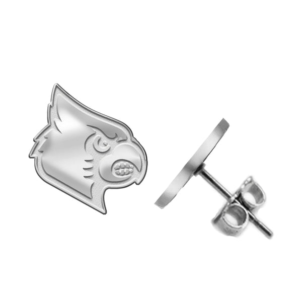 Louisville Cardinals Silver Stud Earrings