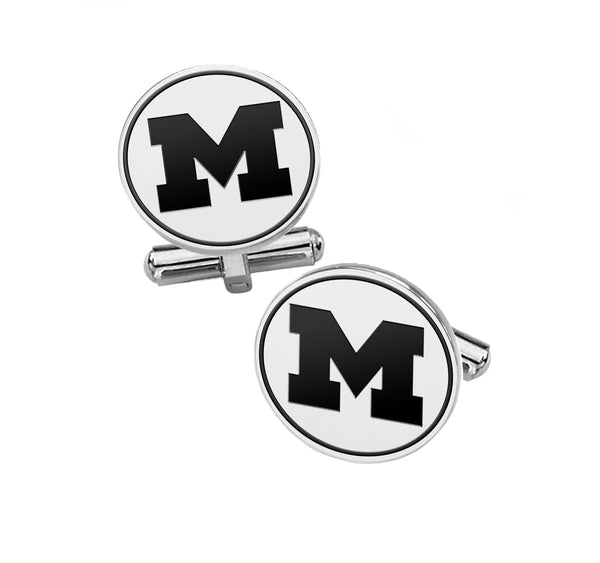Michigan Wolverines Cufflinks | Sterling Silver - DealsAmazingDeals.com
