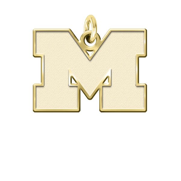 Michigan Wolverines 14KT Gold Charm