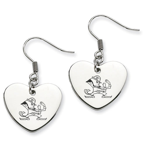 Notre Dame Stainless Steel Heart Earrings