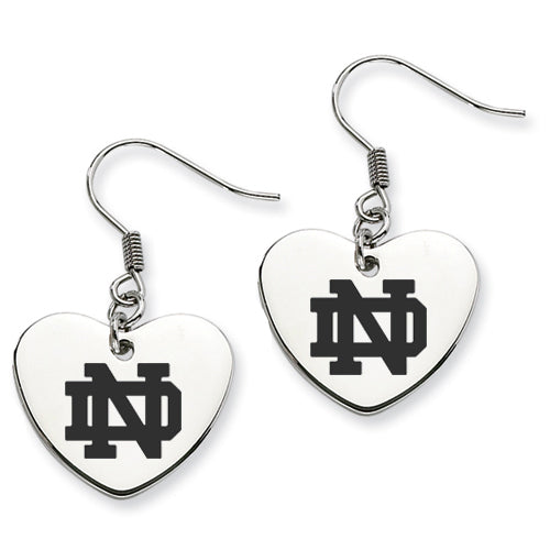 Notre Dame Stainless Steel Heart Earrings - DealsAmazingDeals.com