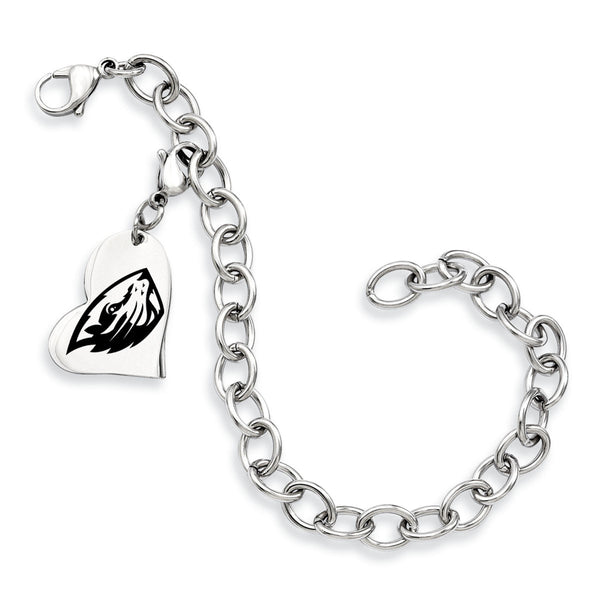 Oregon State Beavers Stainless Heart Bracelet
