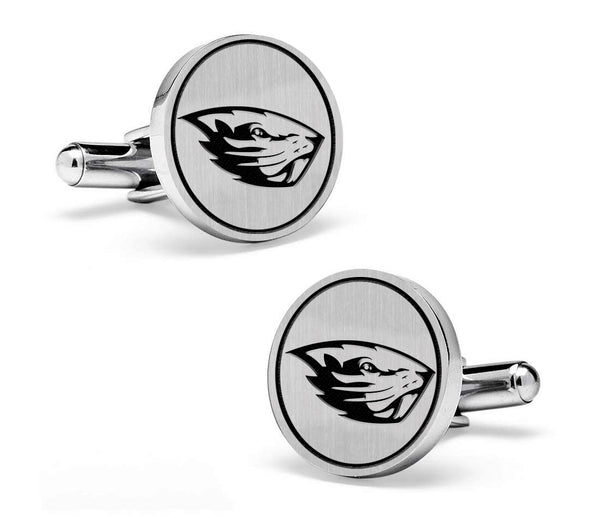 Oregon State Beavers Cufflinks | Sterling Silver