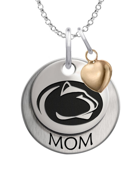 Penn State Nittany Lions MOM Necklace with Heart Accent