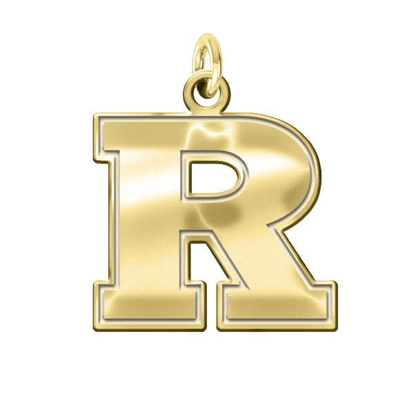 Rutgers Scarlet Knights 14K Yellow Gold Natural Finish Cut Out Logo Charm - DealsAmazingDeals.com
