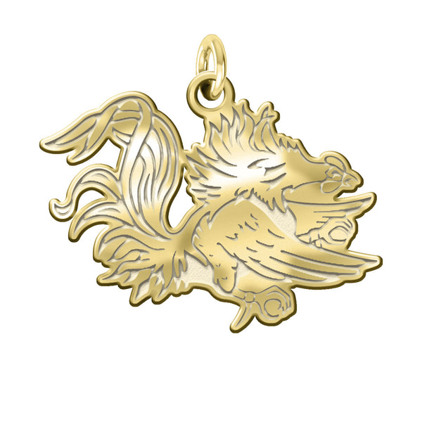 South Carolina Gamecocks 14KT Gold Charm