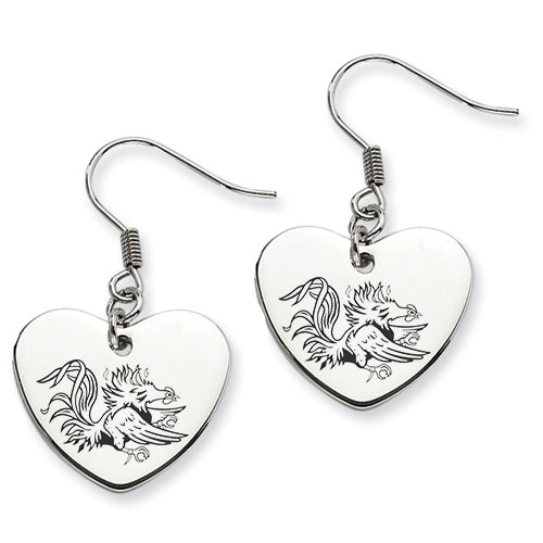 South Carolina Stainless Steel Heart Earrings - DealsAmazingDeals.com