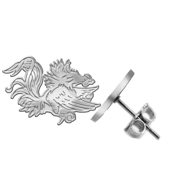 South Carolina Gamecocks Silver Stud Earrings - DealsAmazingDeals.com