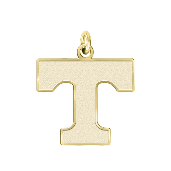 Tennessee Volunteers 14K Yellow Gold Natural Finish Cut Out Logo Charm