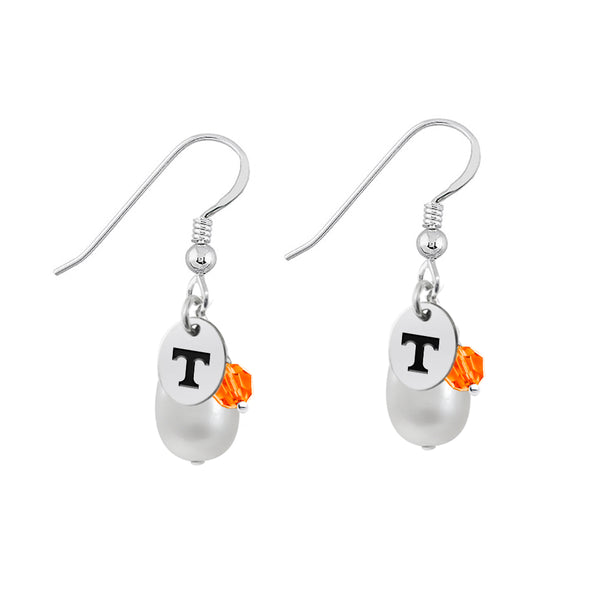 Tennessee Volunteers Color and Freshwater Pearl Earrings