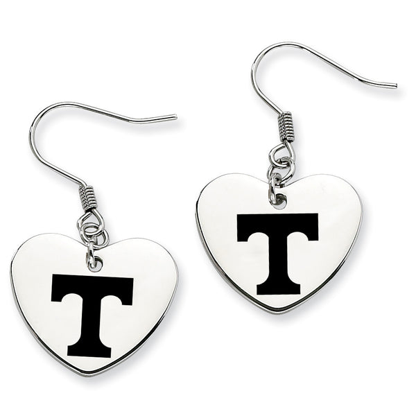 Tennessee Volunteers Stainless Steel Heart Earrings