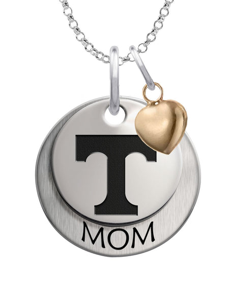 Tennessee Volunteers MOM Necklace with Heart Accent