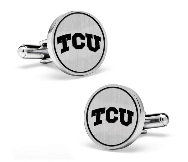 Texas Christian Horned Frogs Cufflinks | Sterling Silver