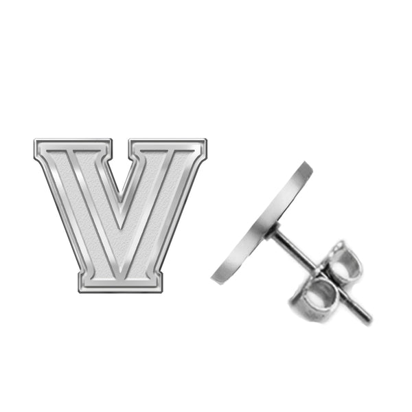 Villanova Wildcats Silver Stud Earrings - DealsAmazingDeals.com
