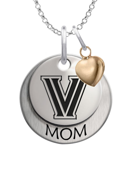 Villanova Wildcats MOM Necklace with Heart Accent