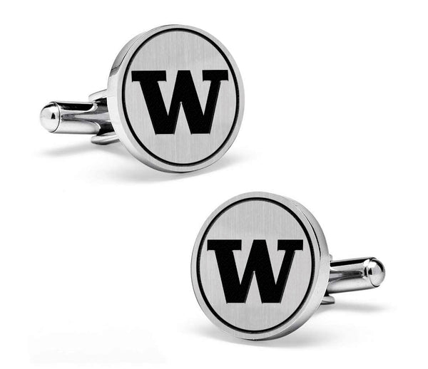 Washington Huskies Cufflinks | Sterling Silver