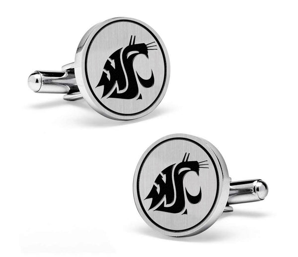 Washington State Cougars Cufflinks | Sterling Silver