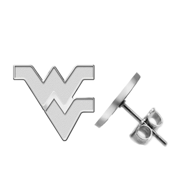 West Virginia Mountaineers Silver Stud Earrings