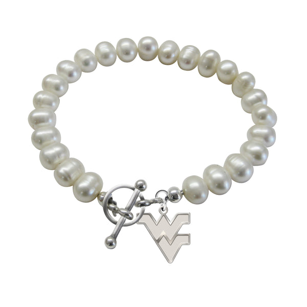 West Virginia Mountaineers Freshwater Pearl Bracelet