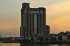 Sunset photo of the Harborview Condos Baltimore Maryland