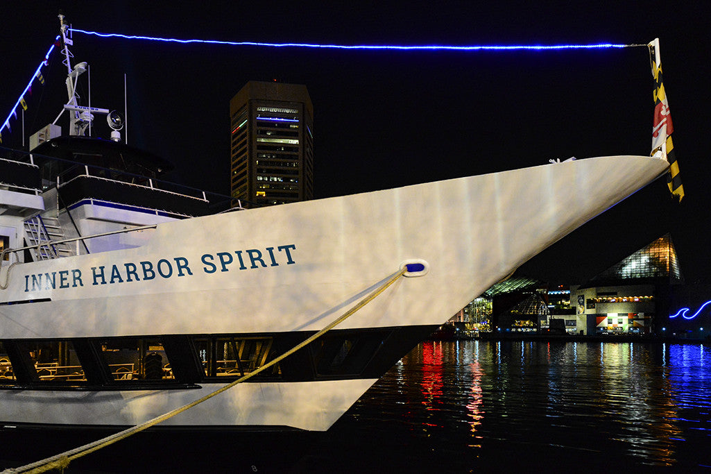 Docked in Baltimore, the Inner Harbor Spirit provides short cruises and fine dining experiences.