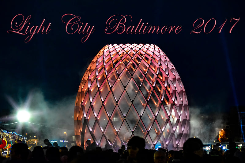 Popular among attendees of Baltimore's Light City 2017 Festival, this display provided a variety of vivid colors.