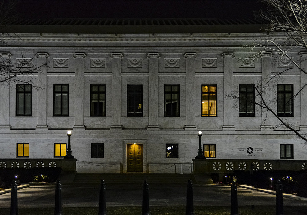 Side view of the Library of Congress Building